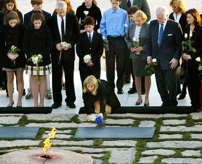 Kennedy family at JFK\